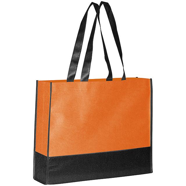 Non woven nákupní taška - oranžová
