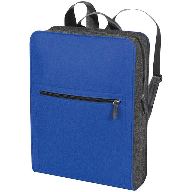 Barevný plstěný batoh - modrá