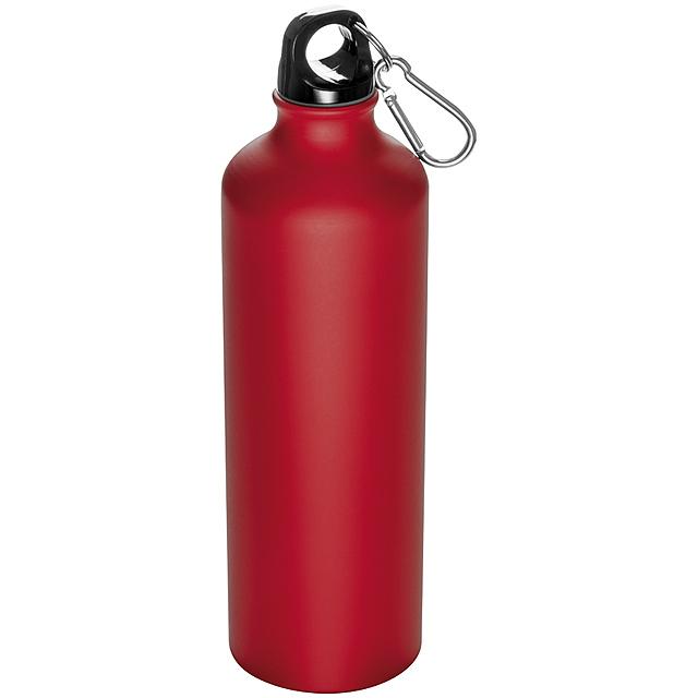 Láhev s karabinou - 800 ml - červená
