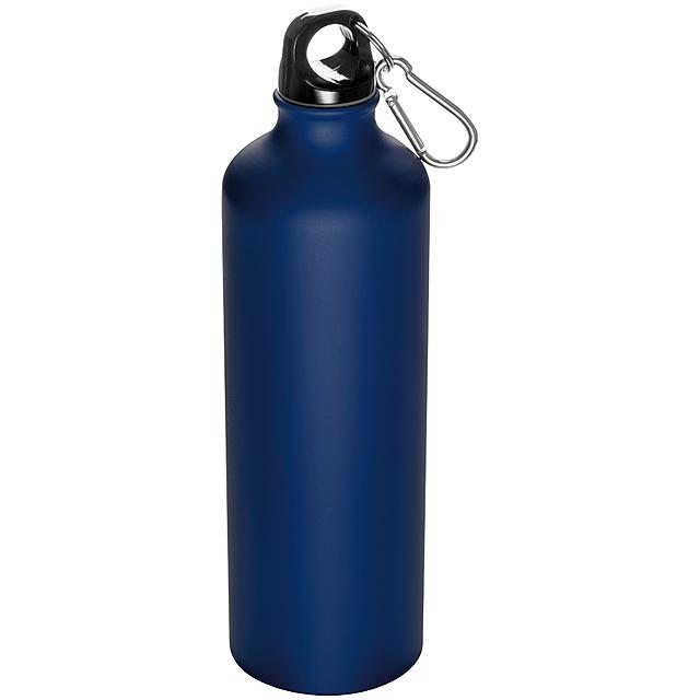 Láhev s karabinou - 800 ml - modrá