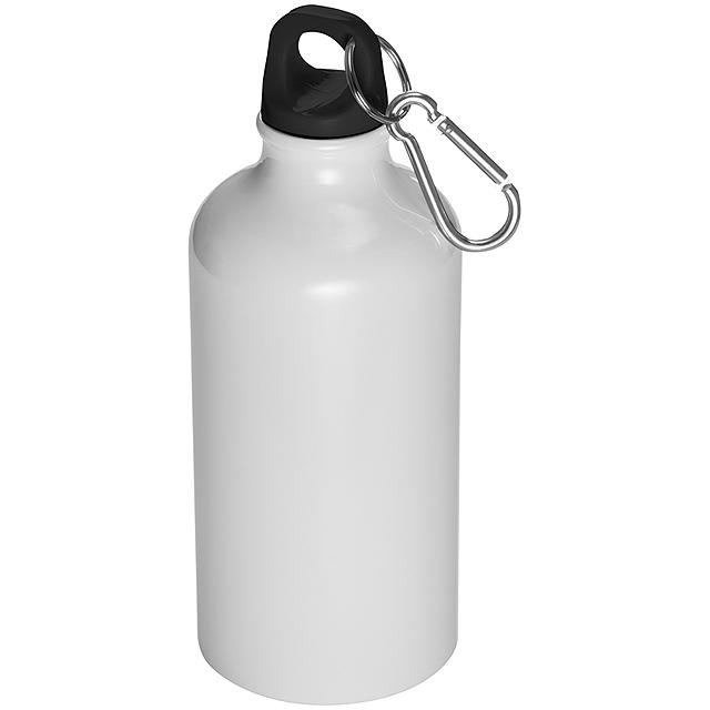 Láhev s karabinou - 500 ml - bílá