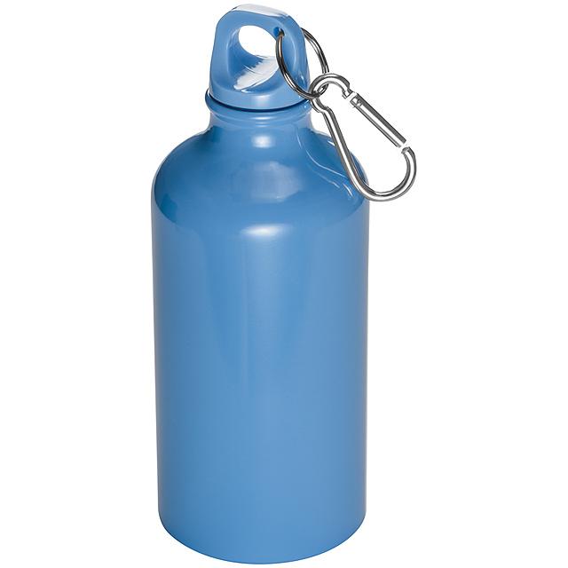 Láhev s karabinou - 500 ml - nebesky modrá