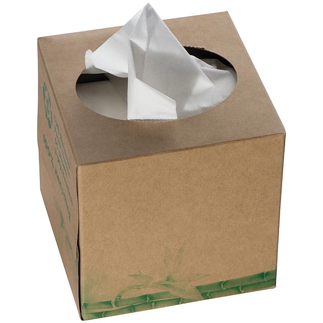Papírové kapesníky - hnědá