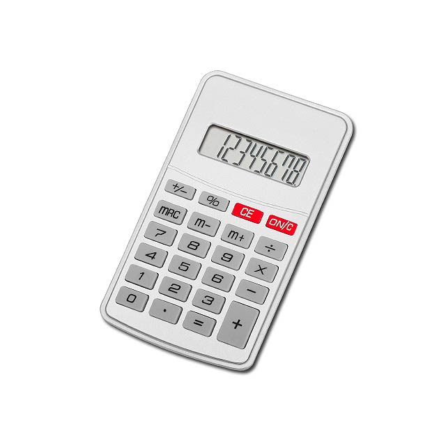 JASPER - Plastic 8-digit calculator - silver