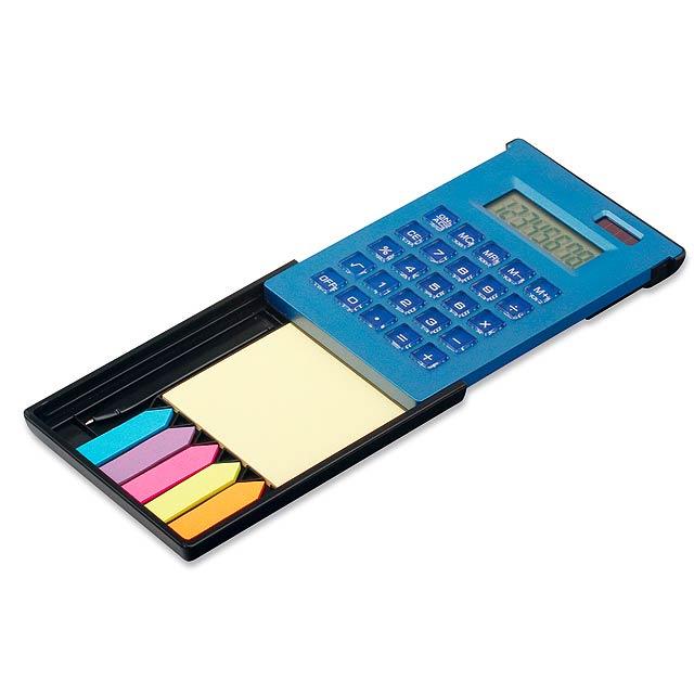 ZIGGY - duálny kalkulačka s 8-miestnym displejom s - modrá