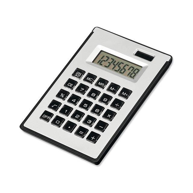 ZIGGY - duálny kalkulačka s 8-miestnym displejom s - strieborná