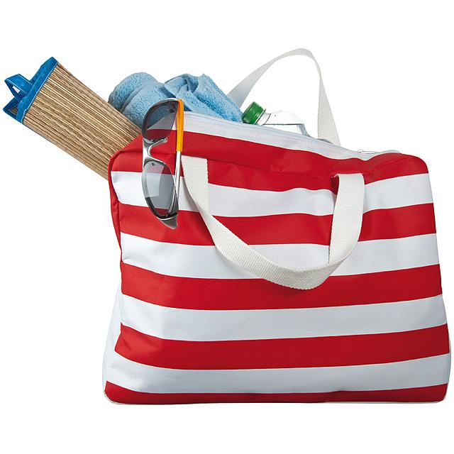 Plážová taška - červená