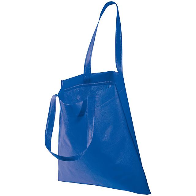 Non-woven taška s dlouhými uchy - modrá