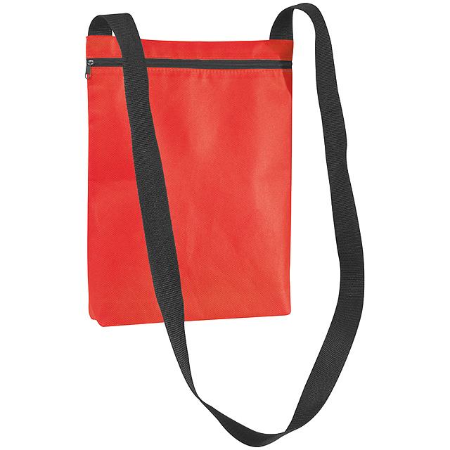 Netkaná taška přes rameno - červená
