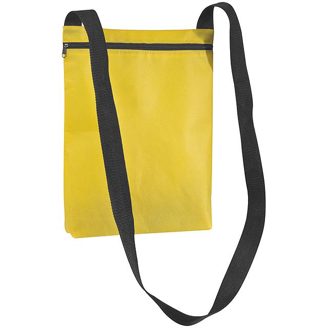 Netkaná taška přes rameno - žlutá