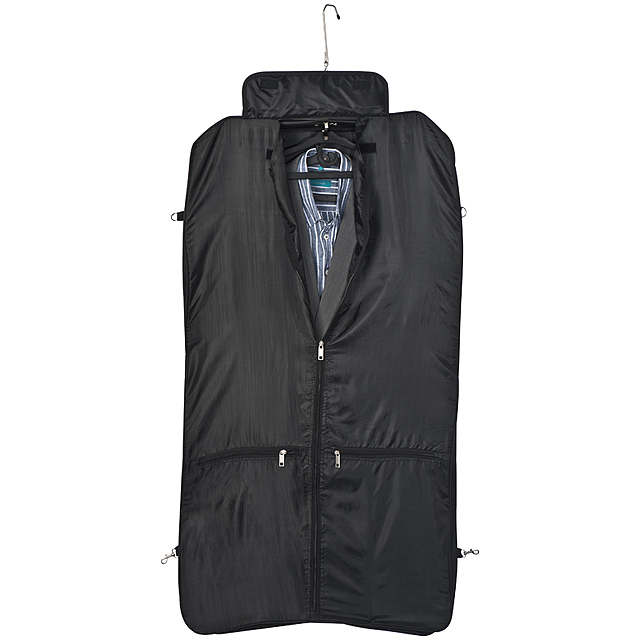 Polyester suit carrier - black