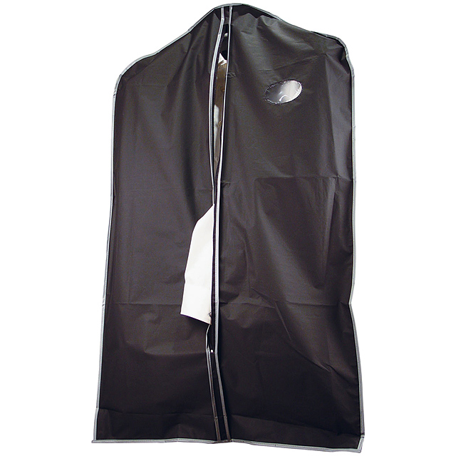 Suit cover made of PEVA - black
