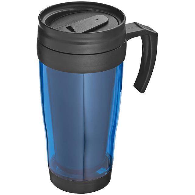 Plastová termoska - modrá