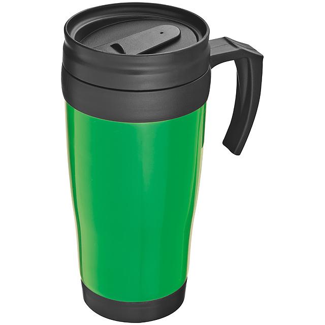 Plastová termoska - zelená