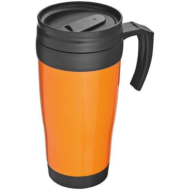 Plastová termoska - oranžová