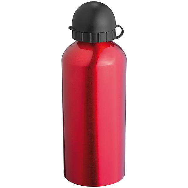 Kovová lahvička - červená