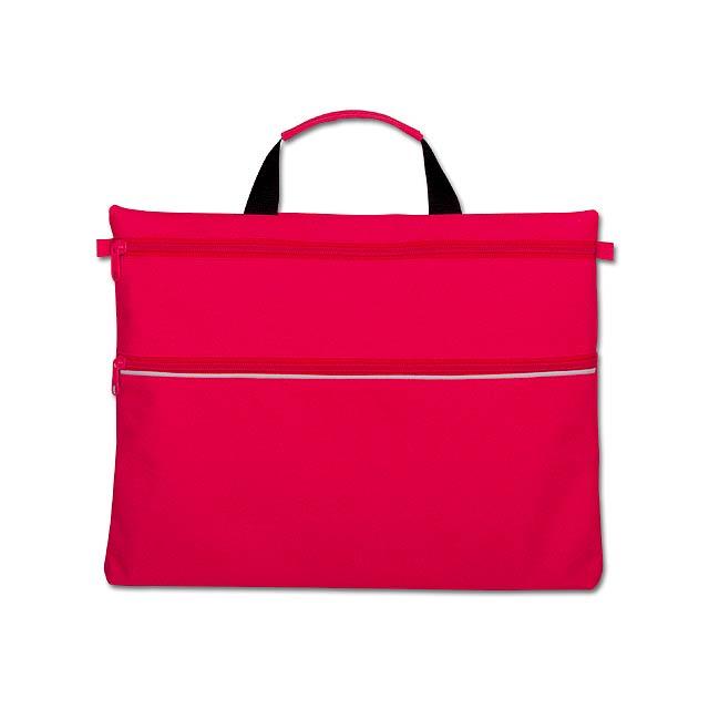 ADALIA - polyesterová taška na dokumenty, 600D - červená