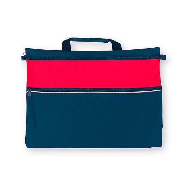 AIRA - polyesterová taška na dokumenty, 600D - červená