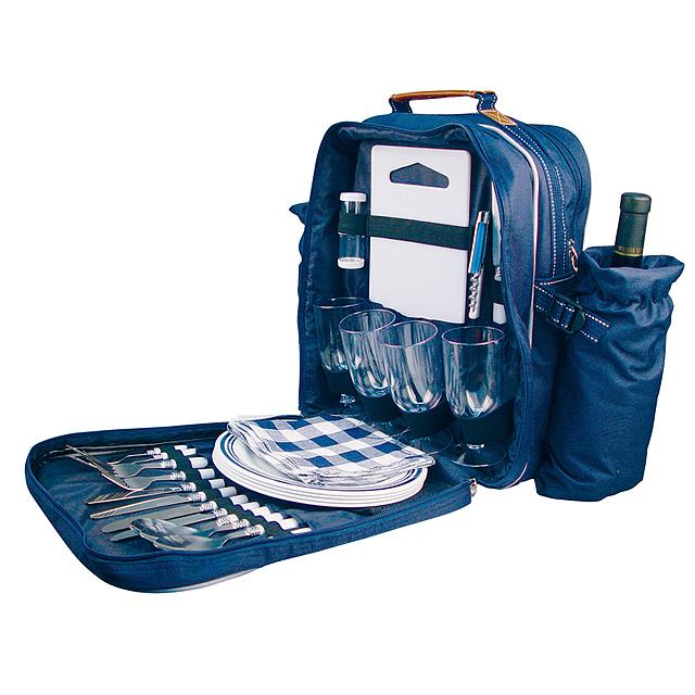 Piknikový batoh - modrá
