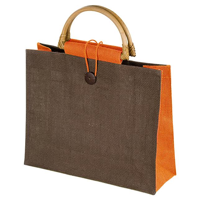 Jutová nákupní taška - oranžová