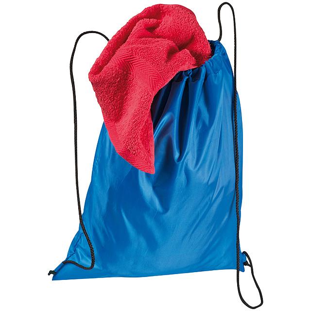 Taška na tělocvik z polyesteru - modrá