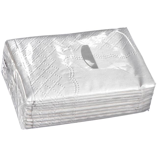 Papírové kapesníky - bílá