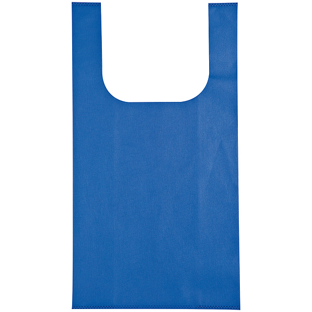 Non-woven shopping bag - blue