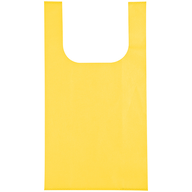 Non-woven shopping bag - yellow