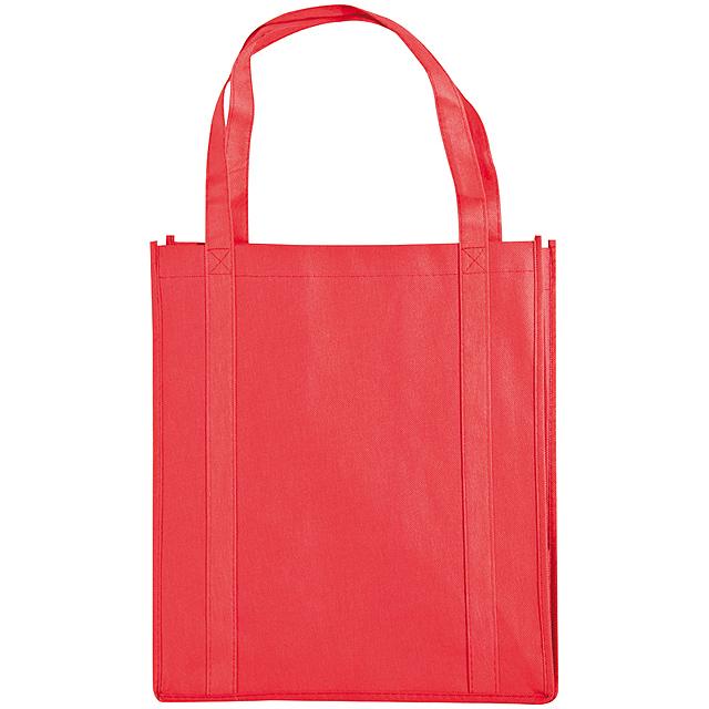 Non-woven nákupní taška - červená