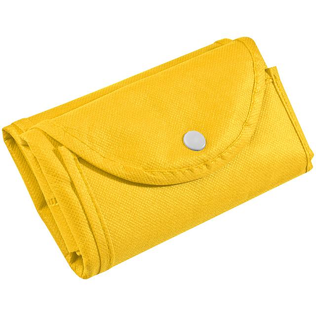 Skládací nákupní taška - žlutá