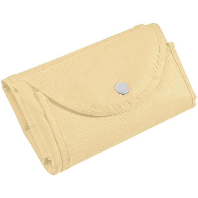 Skládací nákupní taška - béžová