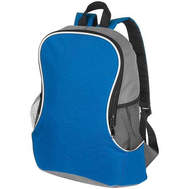 Batoh s bočními přihrádkami - modrá