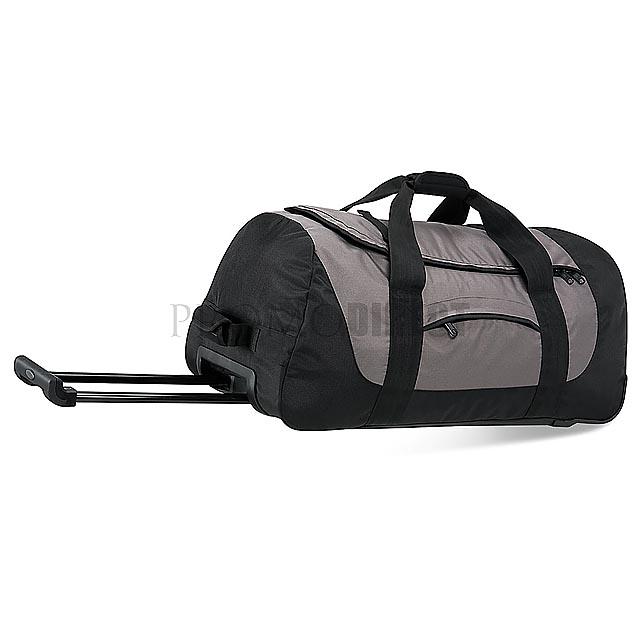 Quadra - cestovní taška na kolečkách - černá