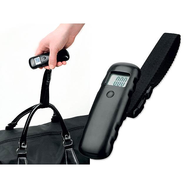 HEFTER - plastová digitální váha na zavazadla - černá