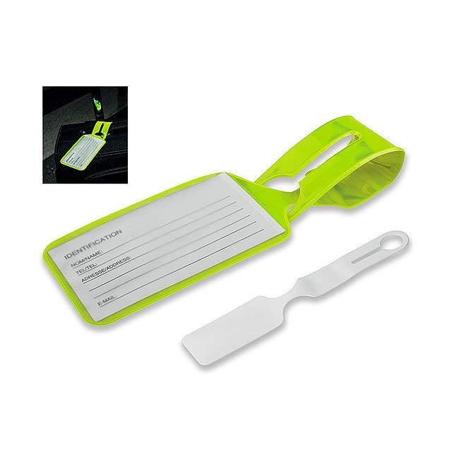 MYTAG - plastová reflexní jmenovka na zavazadlo - žlutá