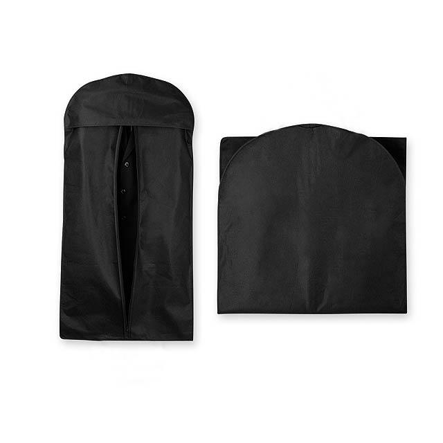 NITIS - vak na šaty z netkané textilie, 80 g/m2 - černá