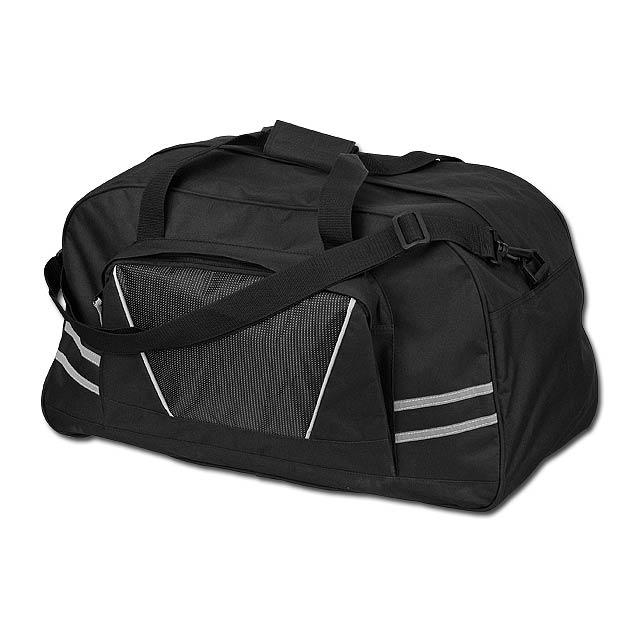 NORMAN - polyesterová cestovní taška, 600D - černá