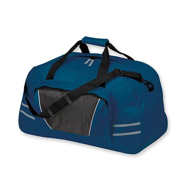 NORMAN - polyesterová cestovní taška, 600D - modrá