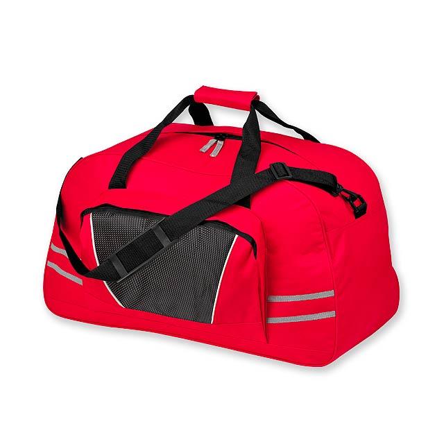 NORMAN - polyesterová cestovní taška, 600D - červená