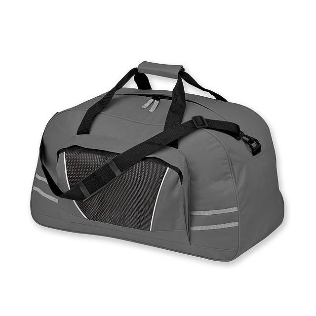 NORMAN - polyesterová cestovní taška, 600D - šedá