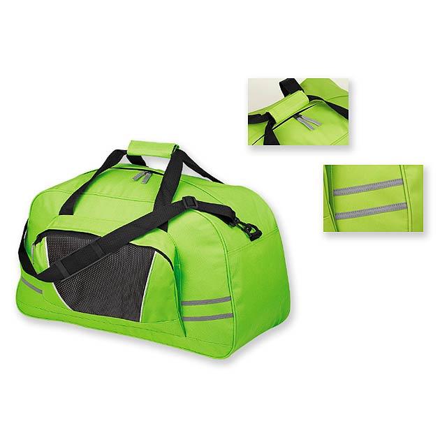 NORMAN - polyesterová cestovní taška, 600D - zelená