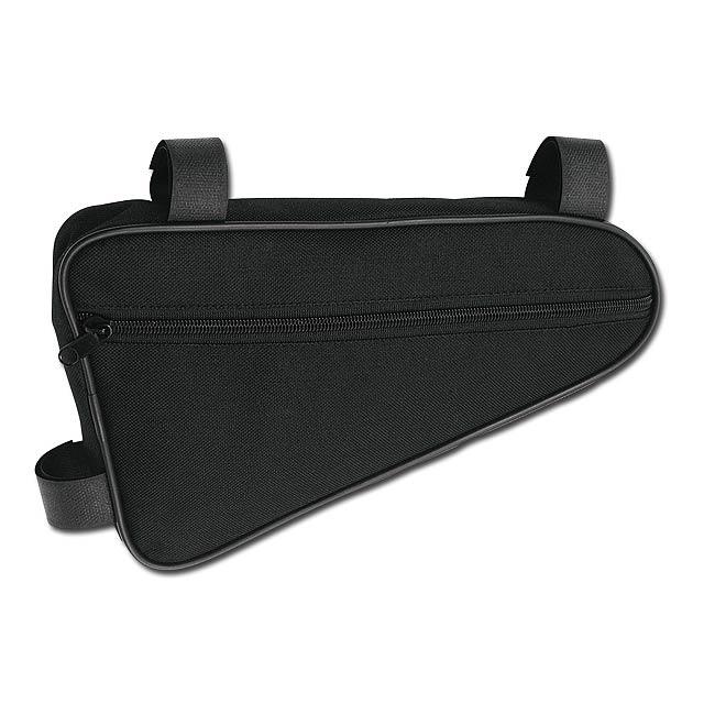 TRIGONE - Polyester biker frame bag. - black