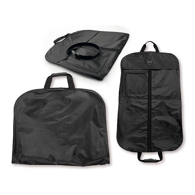 TREVOR - nylonový vak na šaty - černá
