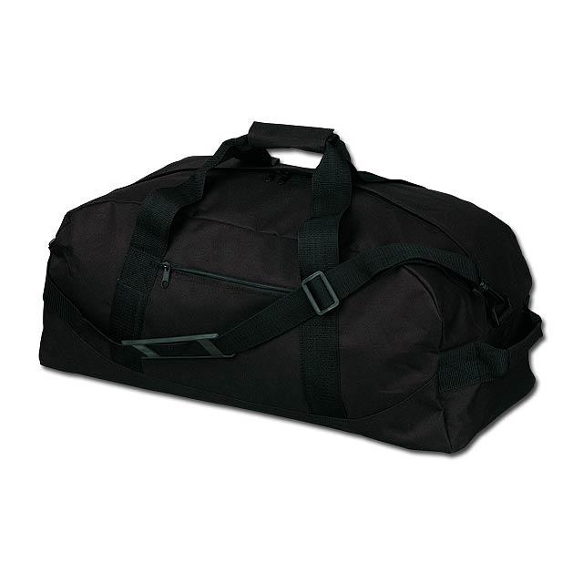 ACTON - polyesterová cestovní taška, 600D - černá