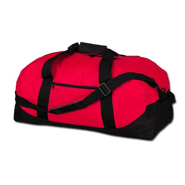 ACTON - polyesterová cestovní taška, 600D - červená