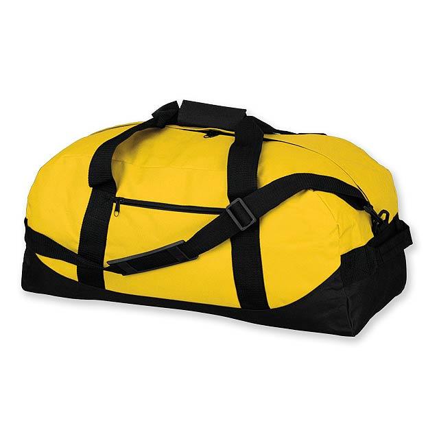 ACTON - polyesterová cestovní taška, 600D - žlutá