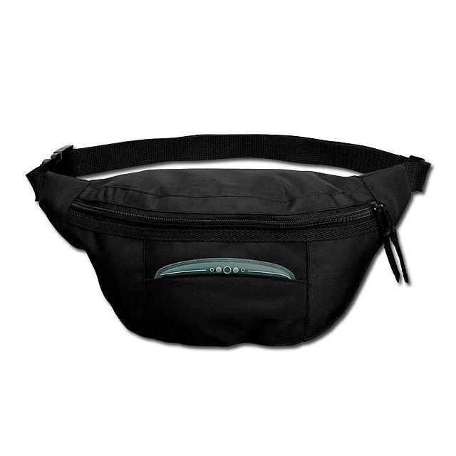 MARSHA - polyesterová ledvinka, 420D - černá