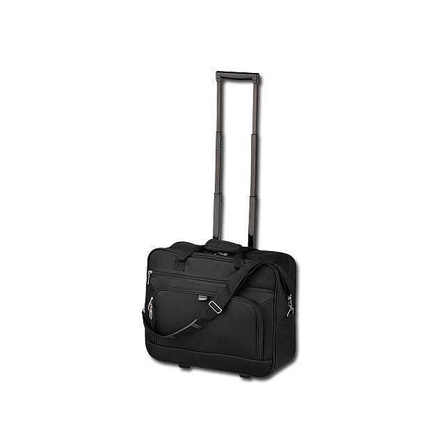 SEAL - polyesterový kufr na kolečkách, 600D, SANTINI - černá