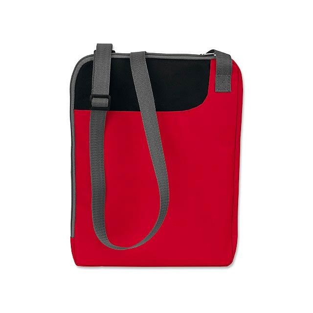 TAVIA - polyesterová taška na dokumenty, 600D - červená