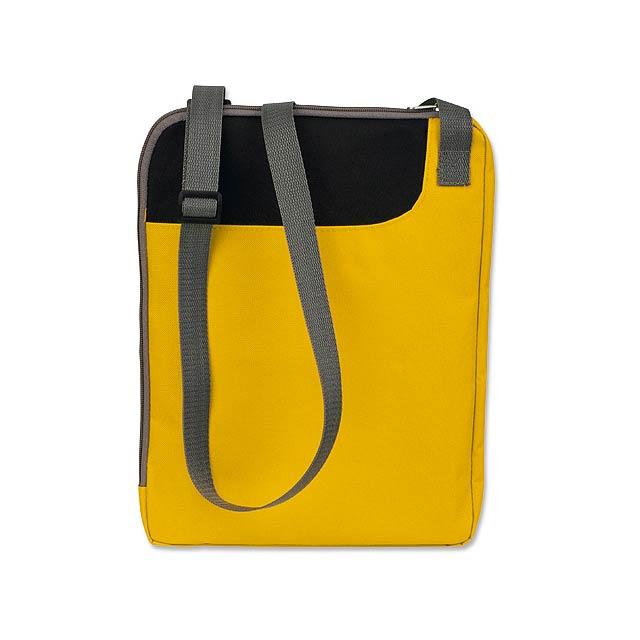 TAVIA - polyesterová taška na dokumenty, 600D - žlutá